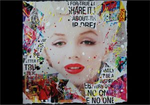 Sara Arnaout_no-one-60x60cm-paper-collage-and-enamel-on-canvas